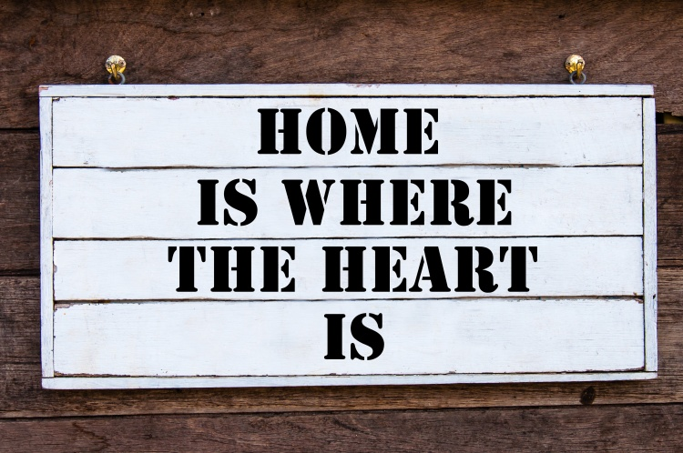 Inspirational message - Home Is Where The Heart Is